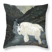 Idaho Mountain Goat Throw Pillow