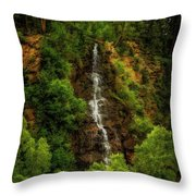 Idaho Springs Waterfall Throw Pillow