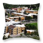Idaho State University Upper Campus With Holt Arena Throw Pillow