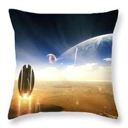 Idea Taken From Star Trek. The Project Throw Pillow by Tobias Roetsch