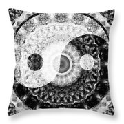 Ideal Balance Black And White Yin And Yang By Sharon Cummings Throw Pillow