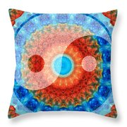 Ideal Balance Yin And Yang By Sharon Cummings Throw Pillow