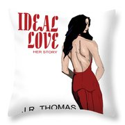 Ideal Love Book Cover Throw Pillow