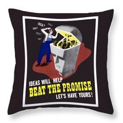 Ideas Will Help Beat The Promise Throw Pillow