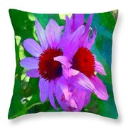 Identical Twins Throw Pillow