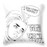 Idle Teen Throw Pillow