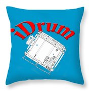 iDrum Throw Pillow