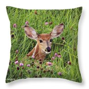 Id'st Hiding In The Flowers Throw Pillow