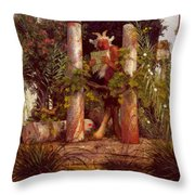 Idyll Pan Amidst Columns 1875 Throw Pillow