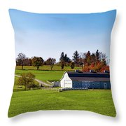 Idyllic Autumn Farm Throw Pillow
