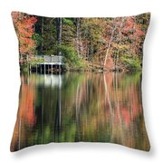 Idyllic Autumn Reflections Throw Pillow