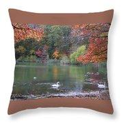 An Idyllic Autumn Throw Pillow