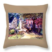 Idyllic Landscape Throw Pillow