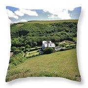 Idyllic North Cornwall Throw Pillow