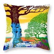 If A Tree Falls In Sicily Color 2 Throw Pillow