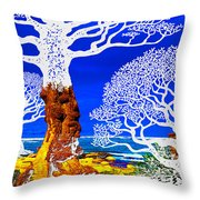 If A Tree Falls In Sicily White Throw Pillow