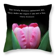 If I Were A Bee Throw Pillow