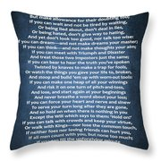 If Poem Blue Canvas Throw Pillow