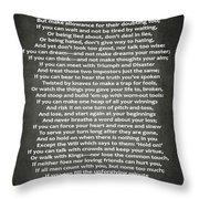 If Poem By Rudyard Kipling Throw Pillow