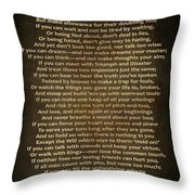 If Poem Vintage Canvas Throw Pillow