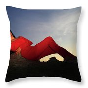 If She Could Stay The Same As The Day Throw Pillow