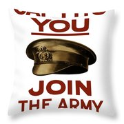 If The Cap Fits You Join The Army Throw Pillow