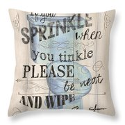 If You Sprinkle Throw Pillow