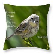 If You Think You Can - Henry Ford Throw Pillow
