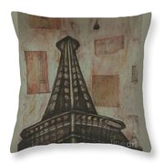 Iffel Tower Throw Pillow