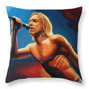 Iggy Pop Painting Throw Pillow