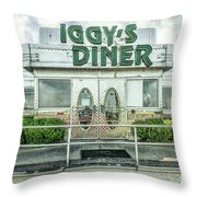 Iggy's Diner Throw Pillow