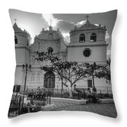 Iglesia Ciudad Vieja - Guatemala Bnw Throw Pillow