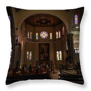 Iglesia Maria Auxiliadora - San Salvador Xix Throw Pillow