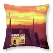 Iglesia Ni Cristo Sunset Cebu City Philippines Throw Pillow
