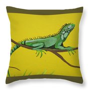 Iguana Throw Pillow