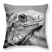 Iguana Stardust Throw Pillow