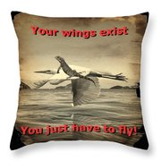 Iguana With Wings Throw Pillow