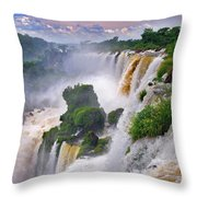 Iguazu Falls Ix Throw Pillow