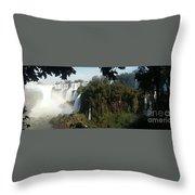 Iguazu Falls Panoramic View Throw Pillow