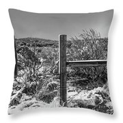 Ih Black And White Throw Pillow
