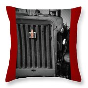 Ih Tractor Throw Pillow