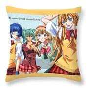 Ikki Tousen Throw Pillow