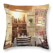 Il Caffe Dell'armadio Throw Pillow by Guido Borelli