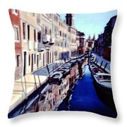 Il Canale Tranquillo Throw Pillow