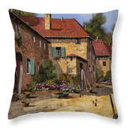 Il Carretto Throw Pillow by Guido Borelli