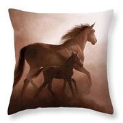 Il Cavallino Throw Pillow