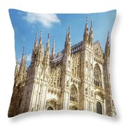 Il Duomo Milan Italy Throw Pillow