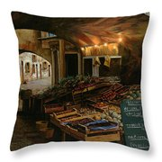 Il Mercato Francese Throw Pillow