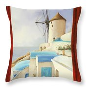 Il Mulino Oltre La Finestra Throw Pillow