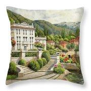 Il Palazzo Sul Lago Throw Pillow
